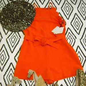 "Victoria Beckham Orange Romper (Added pics) ""NWT"""